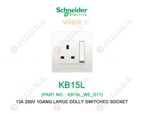 SCHNEIDER VIVACE KB15L SWITCHED SOCKET