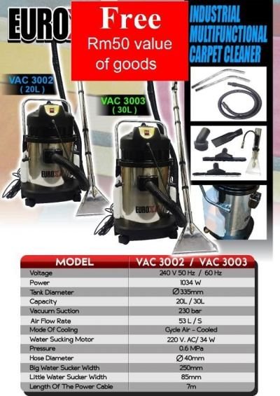 Eurox VAC3003 30L Industrial Multifunctional Carpet Cleaner