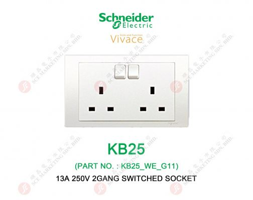 SCHNEIDER VIVACE KB25 SWITCHED SOCKET