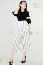 32423 PLUS SIZE STRIPED CULOTTES 【1ST 10% 2ND 15% 3RD 20%】