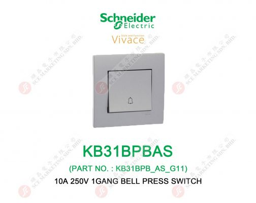 SCHNEIDER VIVACE KB31BPBAS BELL PRESS SWITCH