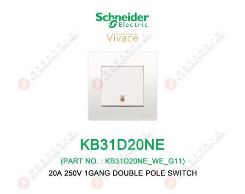 SCHNEIDER VIVACE KB31D20NE SWITCH