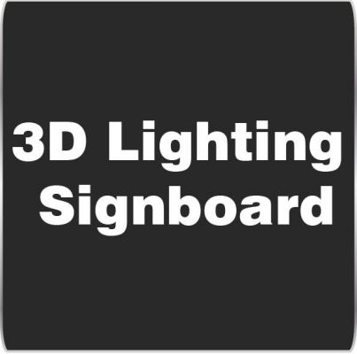 3D Lighting Signboard