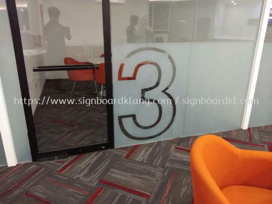 MyEg service center Frosted glass Sticker cut out at kota Damansara Kuala Lumpur