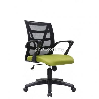 PK-BCMC-14-L-CR-C1-Kasano 3 Low Back Mesh Chair with PP Base