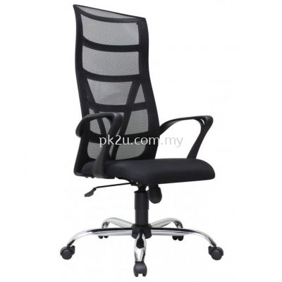 PK-BCMC-14-H-CR-C1- Kasano 3 High Back Mesh Chair with Chrome Base