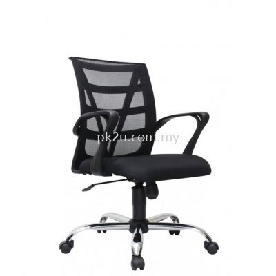 PK-BCMC-14-L-CR-C1-Kasano 3 Low Back Mesh Chair with Chrome Base