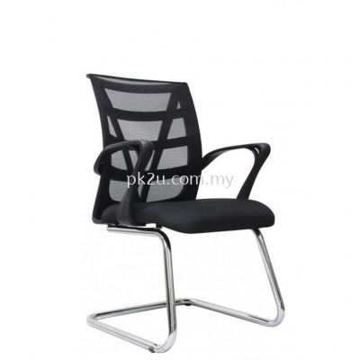KASANO 3 - Visitor Mesh Chair Chrome Cantilever (C1-BCMC-14-V-CC)