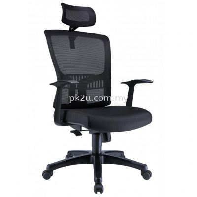 PK-BCMC-15-H-AA-C1-Hugo High Back Mesh Chair with Fixed Armrest