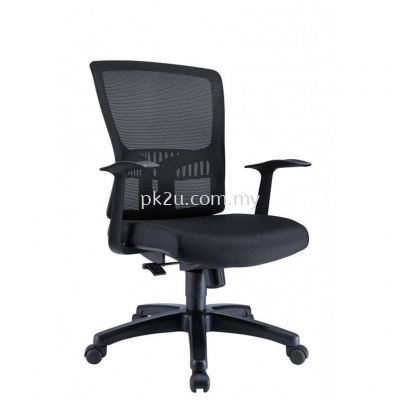 HUGO - Mid Back Mesh Chair with Fixed Armrest (C1-BCMC-15-M)