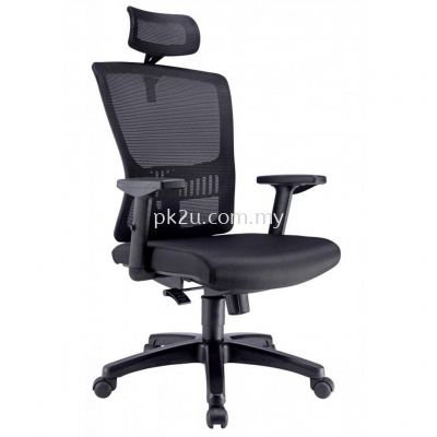 PK-BCMC-15-H-AA-C1-Hugo High Back Mesh Chair with Adjustable Armrest