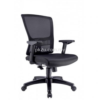 HUGO - Mid Back Mesh Chair with Adjustable Armrest (C1-BCMC-15-M-AA)