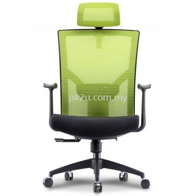 EVO - High Back Mesh Chair with Nylon Base & Fixed Armrest (C1-BCMC-19-H)