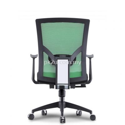 PK-BCMC-19-M-CR-C1-Evo Medium Back Mesh Chair with Nylon Base & Fixed Armrest