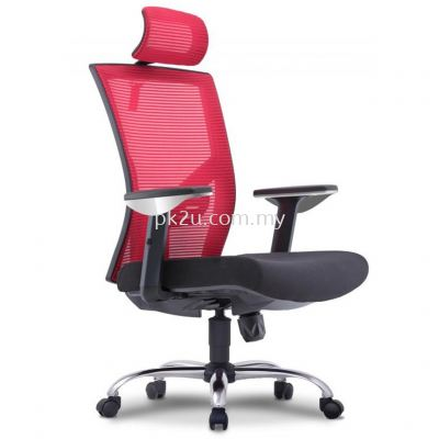 EVO - High Back Mesh Chair with Chrome Base & Adjustable Armrest (C1-BCMC-19-H-CR)