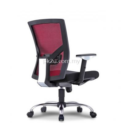 EVO - Mid Back Mesh Chair with Chrome Base & Adjustable Armrest (C1-BCMC-19-M-CR)