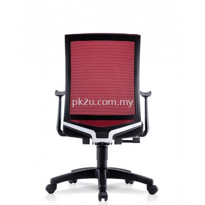 PK-BCMC-21-M-AA-C1-Vin Medium Back Mesh Chair with Adjustable Armrest