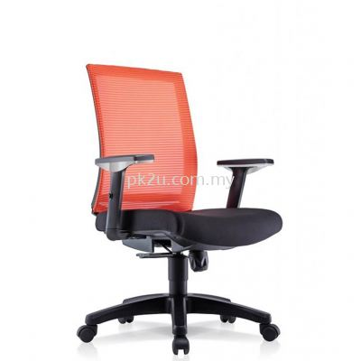 PK-BCMC-21-M-AA-C1-Vin Medium Back Mesh Chair with Fixed Armrest
