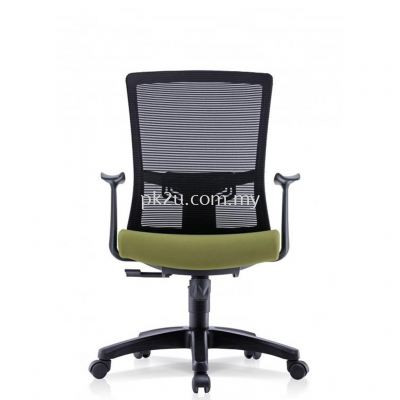 PK-BCMC-22-M-AA-C1-Nismo Medium Back Mesh Chair with Fixed Armrest