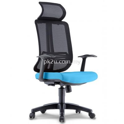 PK-BCMC-23-H-AA-C1-Miller High Back Mesh Chair with Fixed Armrest