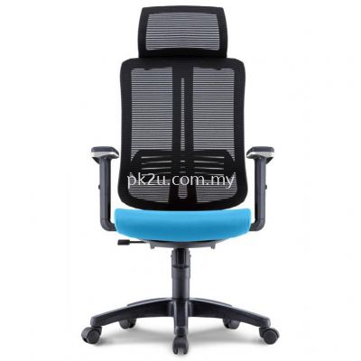 PK-BCMC-23-H-AA-C1-Miller High Back Mesh Chair with Adjustable Armrest