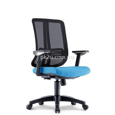 PK-BCMC-23-M-AA-C1-Miller Medium Back Mesh Chair with Adjustable Armrest