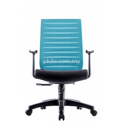 PK-BCMC-24-M-AA-C1-PRO Mid Back Mesh Chair with Fixed Armrest