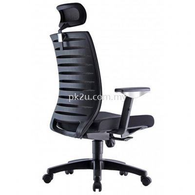 PK-BCMC-24-H-AA-C1-PRO High Back Mesh Chair with Adjustable Armrest