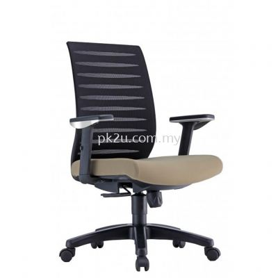 PK-BCMC-24-M-AA-C1-Pro Medium Back Mesh Chair with Adjustable Armrest