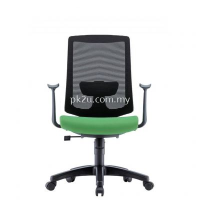 AMBER - Mid Back Mesh Chair with Fixed Armrest (C1-BCMC-25-M)