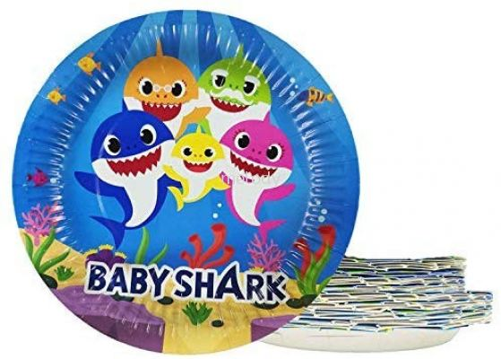Paper Plate 10'S - Baby Shark