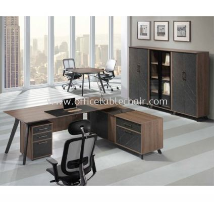 EXECUTIVE TABLE C/W SIDE CABINET 2 PXO 2190