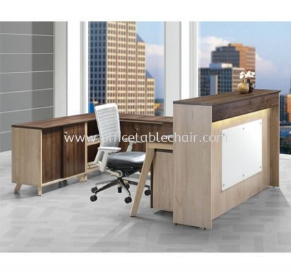 RECEPTION COUNTER TABLE C/W SIDE CABINET PXI RC18