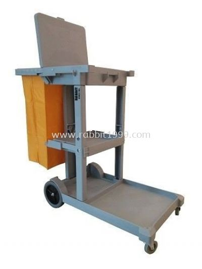 JANITOR CART c/w cover & linen bag