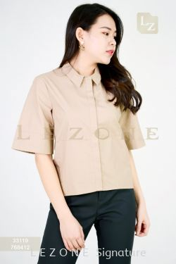 33119 HIGH-LOW COLLAR BLOUSE