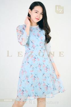635339 FLORAL SLEEVE DRESS 【ONLINE EXCLUSIVE 35%】