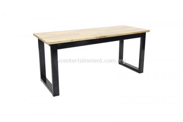 Black Chrome Wood Bench