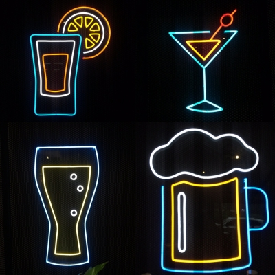LED NEON ICON FOR BAR # FREE MAINTENANCE