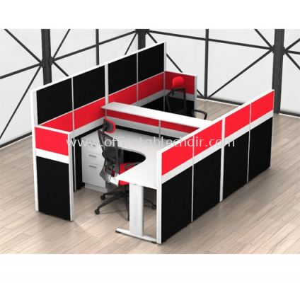 L-SHAPE CLUSTER OF 2 WORKSTATION