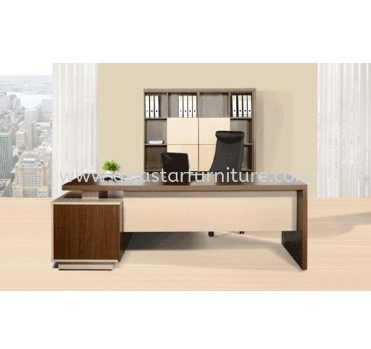 FERNI EXECUTIVE DIRECTOR OFFICE TABLE WITH SIDE OFFICE CABINET & HIGH OFFICE CABINET (FRONT)