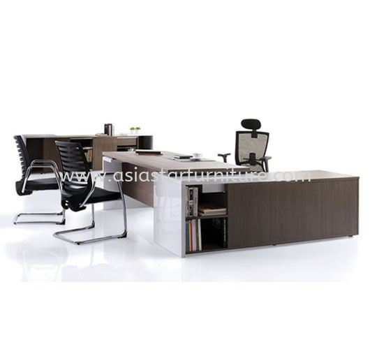 MATIC EXECUTIVE DIRECTOR OFFICE TABLE WITH SIDE OFFICE CABINET (41THK mm)