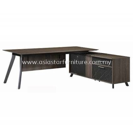 EXECUTIVE TABLE C/W SIDE RETURN CABINET PXO 2190