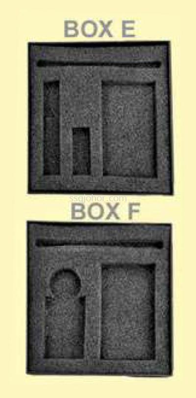 BOX E, F