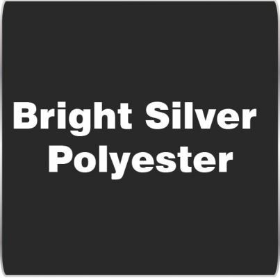 Bright Silver Polyester