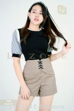 3988 STRIPED SLEEVE BLOUSE 【1ST 10% 2ND 15% 3RD 20%】