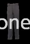 TTR 2 : LONG TROUSER FLAT FRONT (Custom made) BLACK TTR (TETORON RAYON) Trouser
