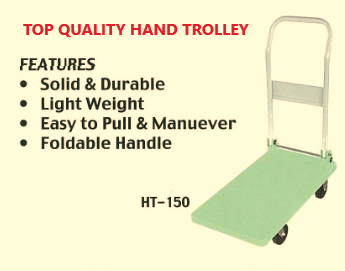 """OIC"" 150KG HAND TROLLEY PLATFORM SIZE: 400MM X 700MM, MODEL HT150 (MADE IN MALAYSIA)."