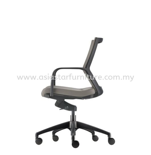 MAXIM LOW BACK PU CHAIR C/W NYLON ROCKET BASE AMX 8112P-20A