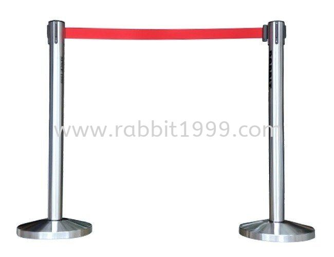 RABBIT STAINLESS STEEL RETRACTABLE Q UP STAND - QPT-102/SS STAINLESS STEEL Q-UP STAND & SIGN BOARD STAND