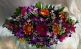 Long and Low Flower Arrangement (BA-199) Long And Low Flower Arrangement Basket Arrangement
